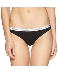 Calvin Klein - Carousel Logo Cotton Thong Panty - Lyst