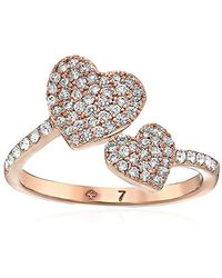 Kate Spade - Pave Heart Ring, Size 7 - Lyst