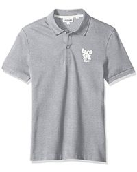 Lacoste - Short Sleeve Graphic Pique Bonded Print Reg Fit Polo, Ph3244 - Lyst