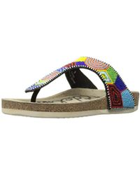 2d3c86b42451 Lyst - Sam Edelman Olivie 3 Embroidered Beaded Sandals in Black
