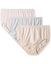 f75a88eafeb5 Ellen Tracy - 3 Pack Full Brief Logo Micofiber Panties - Lyst
