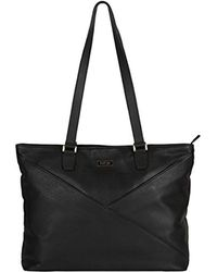 """Kenneth Cole Reaction - Leather Top Zip 15"""" Computer Business Tote (rfid) Laptop Tote - Lyst"""