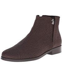 Armani Jeans - Lizard Bootie Chelsea Boot - Lyst