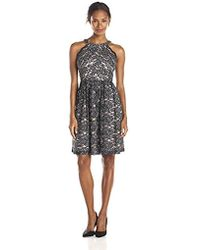 Ivanka Trump - Halter Lace Fit And Flare Dress - Lyst