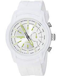 DIESEL - Watches On S Armbar White Silicone Hybrid Smartwatch - Lyst