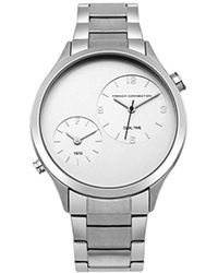 French Connection - Quartz Metal And Stainless Steel Casual Watch, Color:silver-toned (model: Fc1284sm) - Lyst
