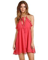 bc11f266ed65 Lyst - For Love   Lemons Tarta Long Sleeve Mini Dress in Pink