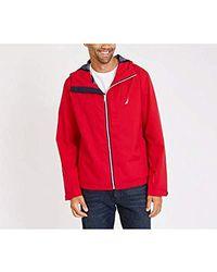 8d608cdf8 Ted Baker. Squish Shearling Collar Overcoat.  749. Bloomingdale s · Nautica  - Zip Front Lightweight Rainbreaker Jacket Coat - Lyst