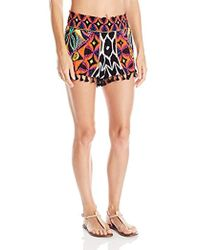 Trina Turk - Africana Shorts Cover Up - Lyst