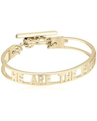 BCBGeneration - Bcbg Generation Cut-out 'future' Toggle Bracelet, Shiny Gold, One Size - Lyst