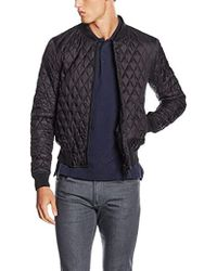 Armani Jeans - Quilted Bomber Jacket, Black, Large - Lyst