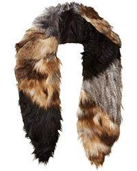 Michael Stars - Faux-real Faux Fur Collar Scarf - Lyst
