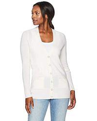 Lark & Ro - 100% Cashmere Soft Boyfriend Cardigan Sweater - Lyst