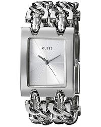 Guess - Stainless Steel Multi-chain Bracelet Watch, Color: Silver-tone (model: G75916l) - Lyst