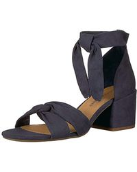 f11490c25ae Lyst - Lucky Brand Xaylah Ankle Strap Sandal in Black