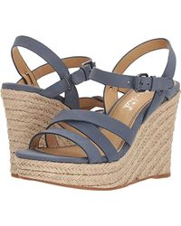 ce5722a19051 Lyst - Naturalizer Billie Espadrille Wedge Sandals in Black
