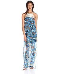 Ella Moss - Tahiti Garden Macrame Maxi Dress - Lyst