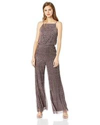 0ce92100320c Cupcakes And Cashmere - Campell Metallic Shimmer Wide Leg Jumpsuit - Lyst