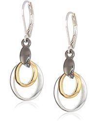 Nine West - Tri-tone Drop Earrings, Size 0 - Lyst