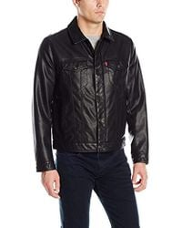 Levi's - Smooth Lamb Touch Faux Leather Classic Trucker Jacket - Lyst
