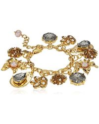 Badgley Mischka - Floral Charm Bracelet - Lyst