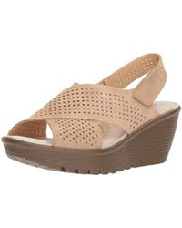 fdf48bd647a Skechers - Parallel Infrastructure Wedge Sandal - Lyst