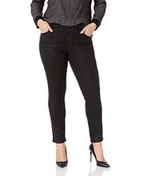 cb21e3017074f Lucky Brand - Plus Size Mid Rise Ginger Skinny Jean In Black Coated - Lyst