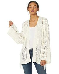 Cupcakes And Cashmere - Rosewood Drop Needle Cardigan With Tassel Details - Lyst