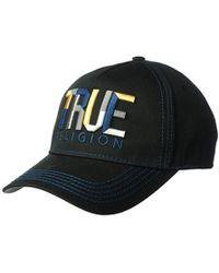 True Religion - Geo Name Baseball Cap - Lyst