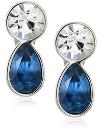 T Tahari - Uptown Jewels Btir Mnt Ombre Clip-on Earrings, Color Silver, One Size - Lyst