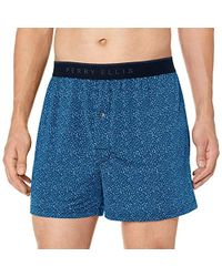 8f9845147bde Perry Ellis Spacedye Luxe Boxer Short in Red for Men - Lyst