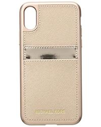 Michael Kors - Metallic Phone Cover With Pocket 8 - Lyst