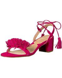 6cf9ea45f16 Lyst - Adrienne Vittadini Chavi Laser-cut Wedge Sandal in Brown
