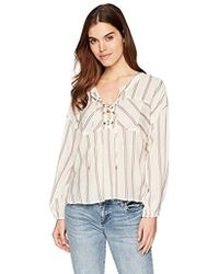 Splendid - Sailboat Stripe Lace Up Top - Lyst