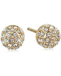"Judith Jack - ""classics"" Gold-tone Sterling Silver Fireball Stud Earrings - Lyst"