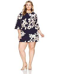 76fa73a1b0b8 Lyst - Eliza J Plus Size Polka Dot Jersey Dress in Blue