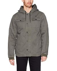 Hurley - Military Inspired Cotton Hooded Lined Jacket - Lyst