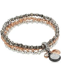 Kenneth Cole - Supercharged Collection Tri-tone Stretch With Charms Bracelet - Lyst