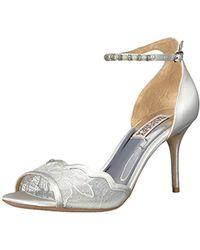 19e42bd6e440 Lyst - Badgley Mischka Lenora Dress Sandals in White