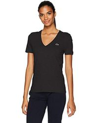 Lacoste - Short Sleeve Classic Supple Jersey V-neck T-shirt - Lyst