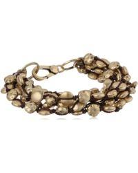"Lucky Brand - Gold Coin Bracelet, 7.63"" - Lyst"