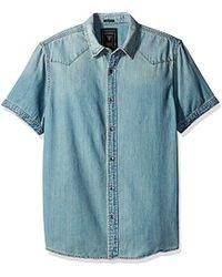 Guess - Western Slim Fit Denim Shirt - Lyst