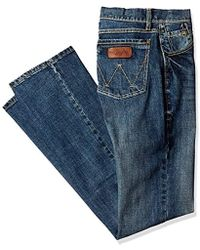 0066dc26 Lyst - Wrangler Retro Limited Edition Slim Fit Boot Cut Jean in Blue ...