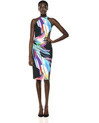 Trina Turk Emotion Mock Neck Midi Dress