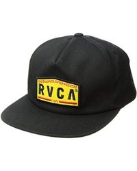 cheap for discount 2e1a0 aaaf4 RVCA - Wrecking Crew Snapback Hat - Lyst