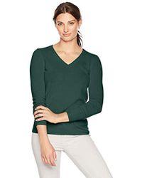 Lark & Ro - V-neck Pullover Cashmere Sweater - Lyst