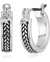 Napier - Silver-tone And Crystal Trio Earrings - Lyst