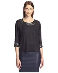 SOCIETY NEW YORK - Embellished High-low Top - Lyst