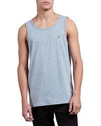 1045b909fb08d0 Lyst - Forever 21 Colorblock Pocket Tank Top in Gray for Men