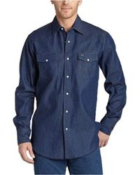 Wrangler - Cowboy Cut Western Two Pocket Long Sleeve Snap Workshirt - Lyst